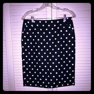 👗NEW👗NWOT Merona polka dot pin-up pencil skirt